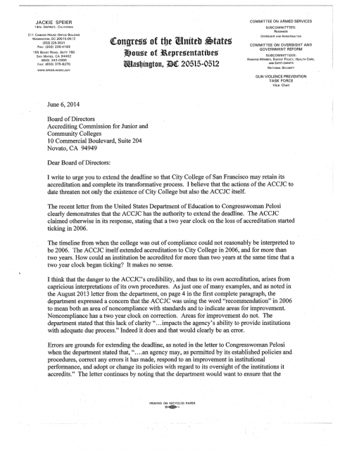 Speier-june 6 letter to accjc