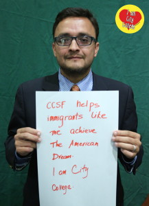 "David Campos in July 2013: ""CCSF helps immigrants like me achieve the American Dream. I am City College."""
